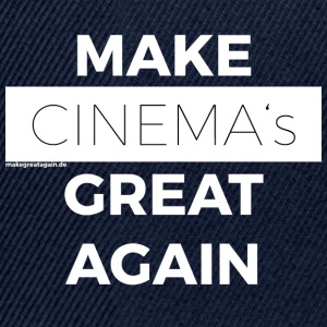 MAKE CINEMAS GREAT AGAIN white - Snapback Cap
