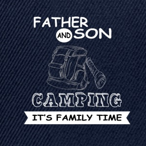 Father And Son - Camping - Snapback Cap