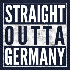 STRAIGHT OUTTA GERMANY Germany funny shirt - Snapback Cap