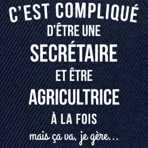 Secretaire Agricultrice humour - Casquette snapback