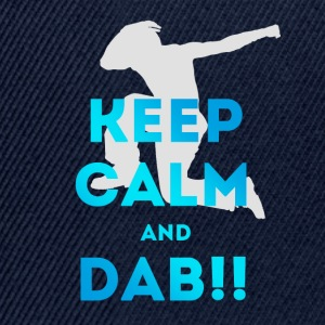 keep calm and dab dance arm above - Snapback Cap
