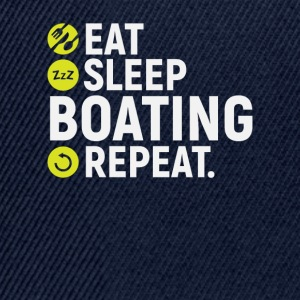 Eat, sleep, boating, repeat - Snapback Cap