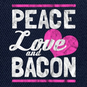 Peace, love and bacon gift - Snapback Cap