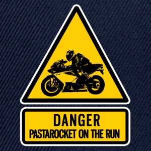 danger: pastarocket on the run - Snapback Cap