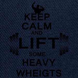 KEEP CALM lift some heavy weights - Snapback Cap