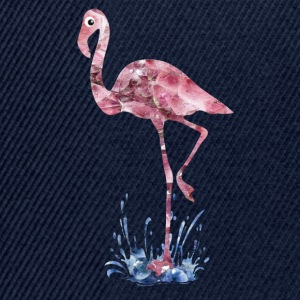 Flamingo rosa Kristalle Press - Snapback Cap