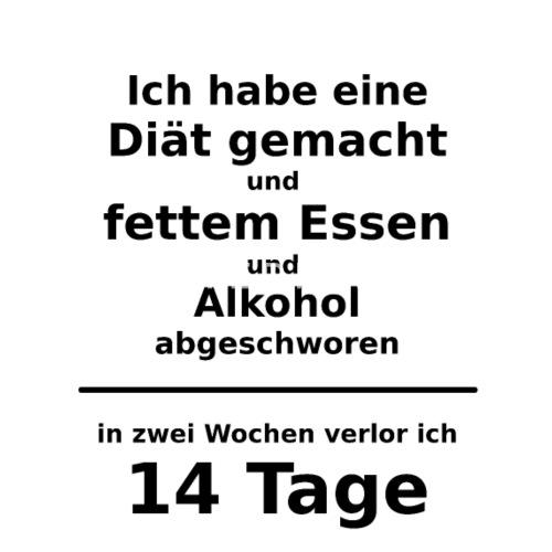 Diat Wochen Lustiger Spruch Alkohol Essen Zitat Manner Premium