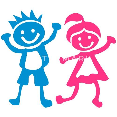 Garcon fille enfants dessin 1401 d bardeur premium homme spreadshirt - Dessin fille et garcon ...