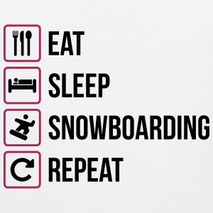 Eat Sleep Snowboard Repeat - Canotta premium da uomo