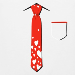 Valentine's Day Neck Tie With Pocket - Men's Premium Tank Top