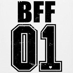 BFF 01 Freunde Friends Best Nr.1 King Grunge Queen - Männer Premium Tank Top