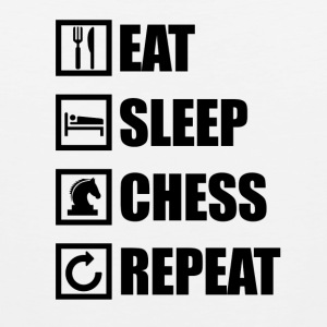 EAT SLEEP CHESS REPEAT - Tank top męski Premium