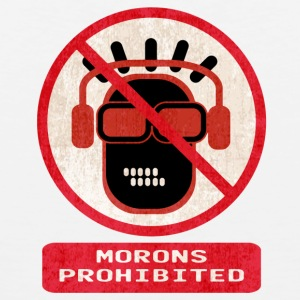 Morons prohibited - Men's Premium Tank Top