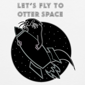 LET'S FLY TO OTTER SPACE - Men's Premium Tank Top