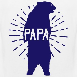 Papa Bear Fathers Day - fathers day - Men's Premium Tank Top