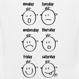 Weekdays Smilies - Men's Premium Tank Top