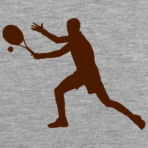 Tennis player silhouette 3 - Men's Premium Tank Top