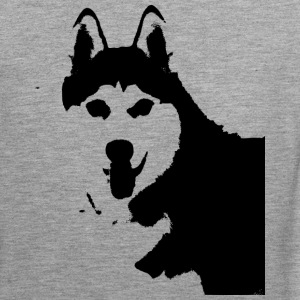 Husky black and white - Men's Premium Tank Top