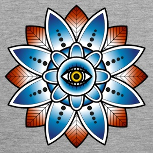Psychedelic mandala with eye - Men's Premium Tank Top