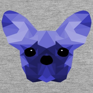 French Bulldog blu Low Poly design - Canotta premium da uomo