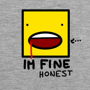 I'm fine....honest - Men's Premium Tank Top