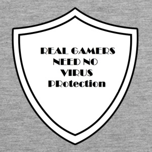 Real Gamers need no virus protection - Men's Premium Tank Top