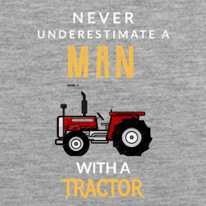 Never underestimate a man with a tractor! - Men's Premium Tank Top