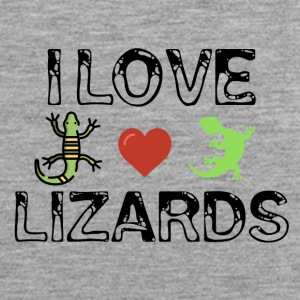 I love lizards - Men's Premium Tank Top