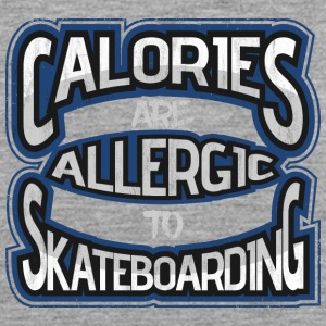 Calories are allergic to skate boards 2 - Men's Premium Tank Top