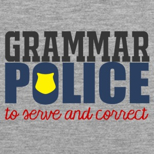 Police: Grammar Police to serve and correct - Men's Premium Tank Top