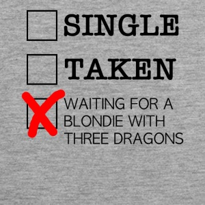 WAITING FOR A BLONDIE WITH THREE DRAGONS black - Men's Premium Tank Top