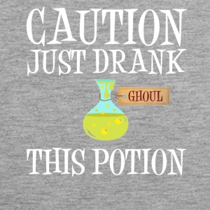 Attention! Ghoul Undead Potion Halloween Costume - Men's Premium Tank Top