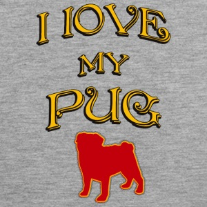 I LOVE MY DOG pug - Men's Premium Tank Top