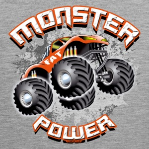 11A-02 POWER MONSTER TRUCK - FAT RUOTA - Canotta premium da uomo