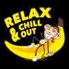 Relax and chill out | Affe auf Banane - Männer Premium Tank Top