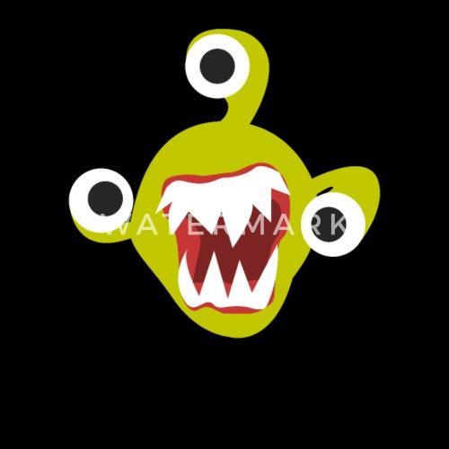 Kinder Monster Dämon Drei Augen Zähne Halloween Männer Premium