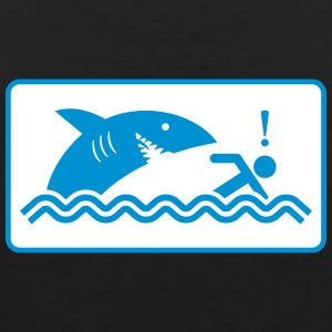 Warning: Beware Of Sharks - Men's Premium Tank Top