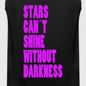 STARS CAN´T SHINE WITHOUT DARKNESS - NEONLILA - Männer Premium Tank Top