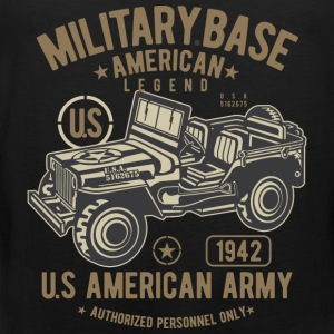 MILITARY OFFROAD JEEP - US Army Jeep Shirt Design - Men's Premium Tank Top