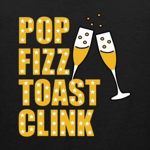 Silvester Pop Fizz toast Clink - Premium singlet for menn