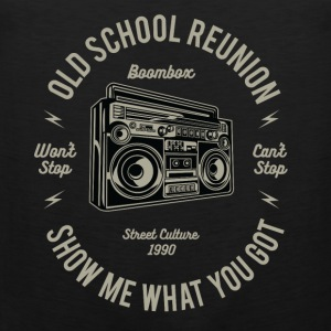 Old school reunion: Boombox & boom box! - Tank top męski Premium