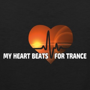 My Heart beats for Trance - Men's Premium Tank Top