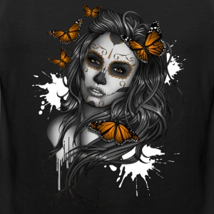 Day of the Dead Sugar Skull Girl - Men's Premium Tank Top