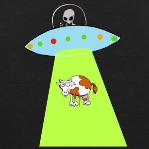 Cow and UFO - Men's Premium Tank Top