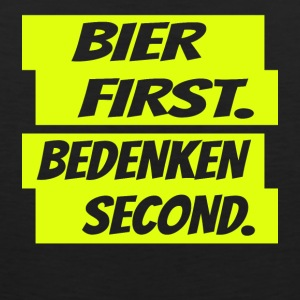 Bier first bedenken second Gelb - Männer Premium Tank Top
