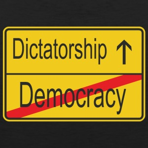 Leaving Democracy entering Dictatorship - Men's Premium Tank Top