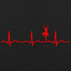 ECG HEARTBEAT BALLERINA red - Men's Premium Tank Top