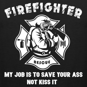 Firefighter Tshirt-Kiss it - Männer Premium Tank Top