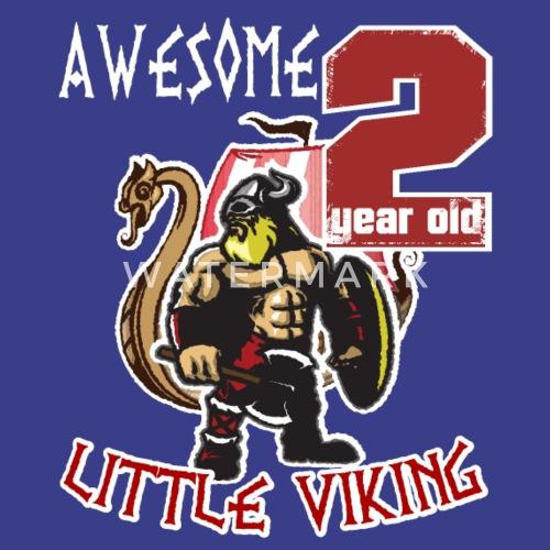 Funny 2 Year Old Little Viking 2nd Birthday Boy Manner Premium Tanktop