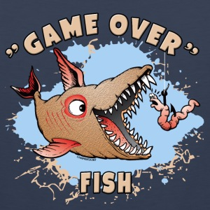 10-37 GAME OVER FISH - The game is played with fish - Men's Premium Tank Top